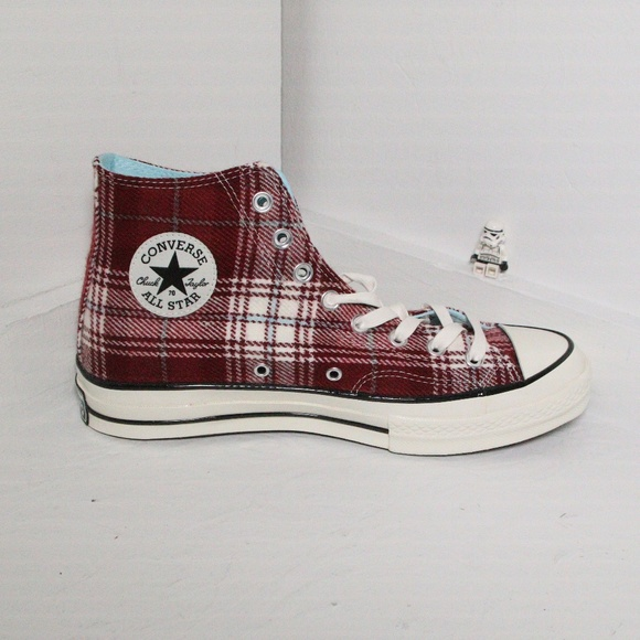 8049746a8c4a Converse Chuck 70 Red Elevated Plaid High Tops